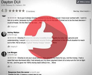 some of Dayton DUI's testimonials